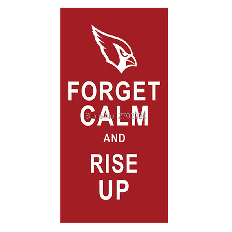 FORGET CALM AND RISE UP Arizona Cardinals Banner Flag Super Bowl Champions World Series 3ft X 5ft Arizona Cardinals Flag