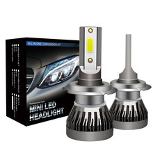 1 Pair H7 LED 11000LM Mini Car Headlight Bulbs H1 H4 LED H8 H9 H11 Headlamps Kit 9005 HB3 9006 HB4 Auto LED Lamps Car Styling(China)
