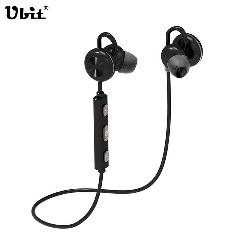 все цены на Ubit Sports Bluetooth Headset Earphones Noise Cancelling Handsfree Wireless Headset Sweatproof Voice Control Earphone Microphone онлайн