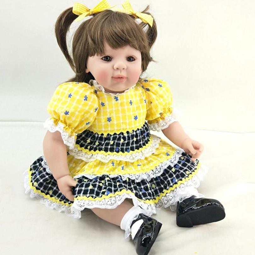 50 см куклы для новорожденных 2017 Новый дизайн принцесса высокого класса подарки на день рождения для безопасного раннего образования модели