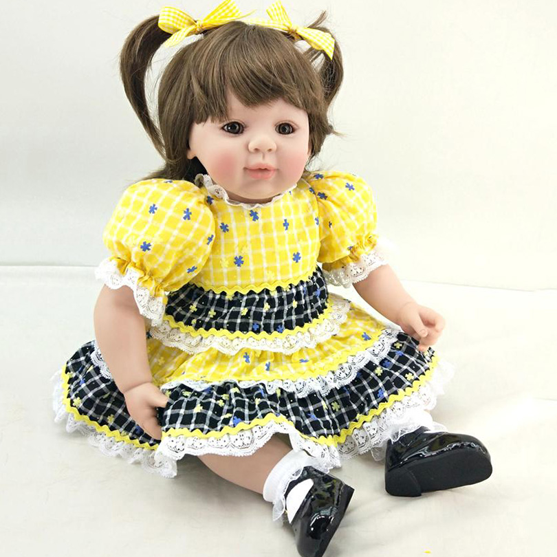 50cm Newborn Dolls 2017 New Design Princess High End Birthday Party Gifts For Safe Early Education Simulation Lifelike Boneca
