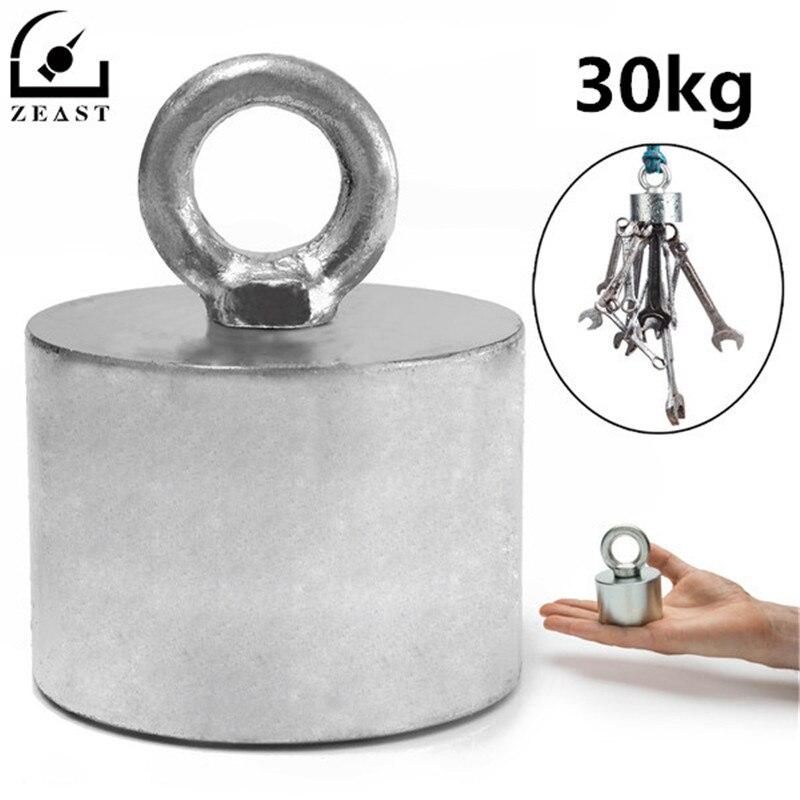 Metal Detector Neodymium Magnet Treasure Recovery Hunting Fishing 55x40mm 30kg network recovery