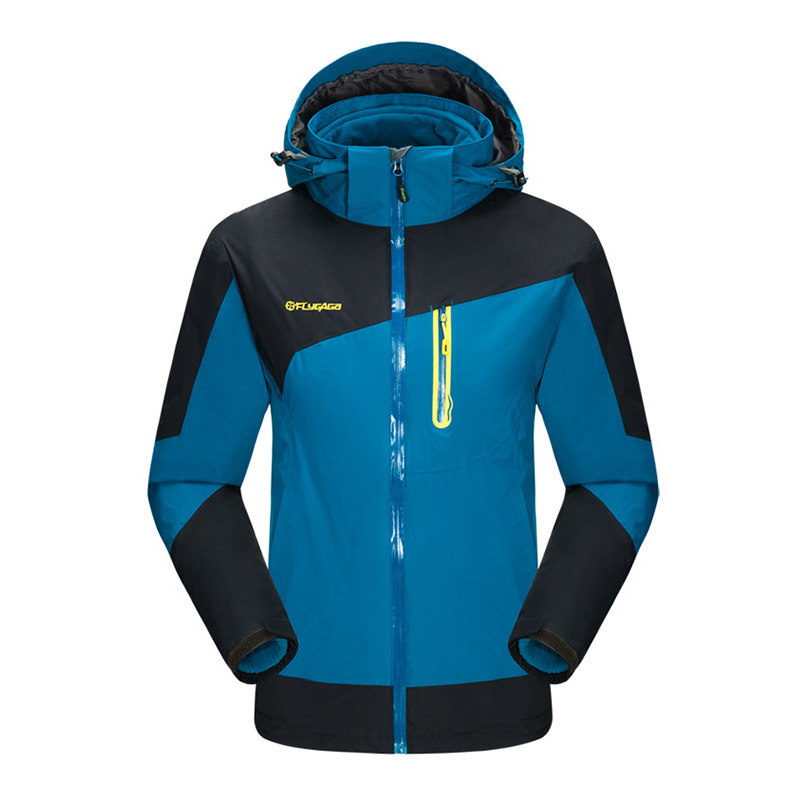 3in1 With Fleece Liner Windbreaker Waterproof Outdoor Jacket Men Hiking Camping Sport Coat Trekking Climbing Jaqueta Feminina new outdoor sport windbreaker waterproof jacket men hiking camping skiing climbing winter coat fleece lining jaqueta masculino