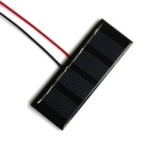 0.2W 2V Mini Solar Panel+Cable Epoxy Solar Cell Polycrystalline Easy DIY Solar Module System 78.8*28.3*3MM Free Shipping