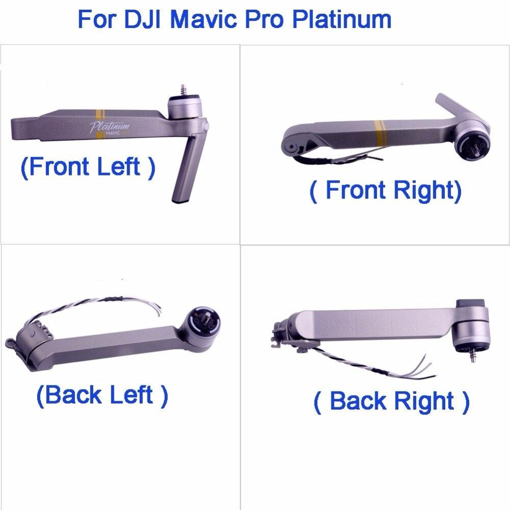 Original pour DJI Mavic Pro Platinum Drone pièces avant gauche droite arrière gauche droite moteur bras assemblage pièces de réparation remplacement