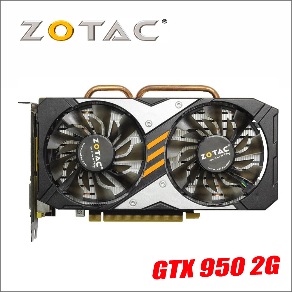 ZOTAC видеокарта GeForce GTX950 2GD5 128Bit GDDR5 Графика карты для nVIDIA Map GTX 950 2 г Опустошителей Hdmi Dvi 750 750ti