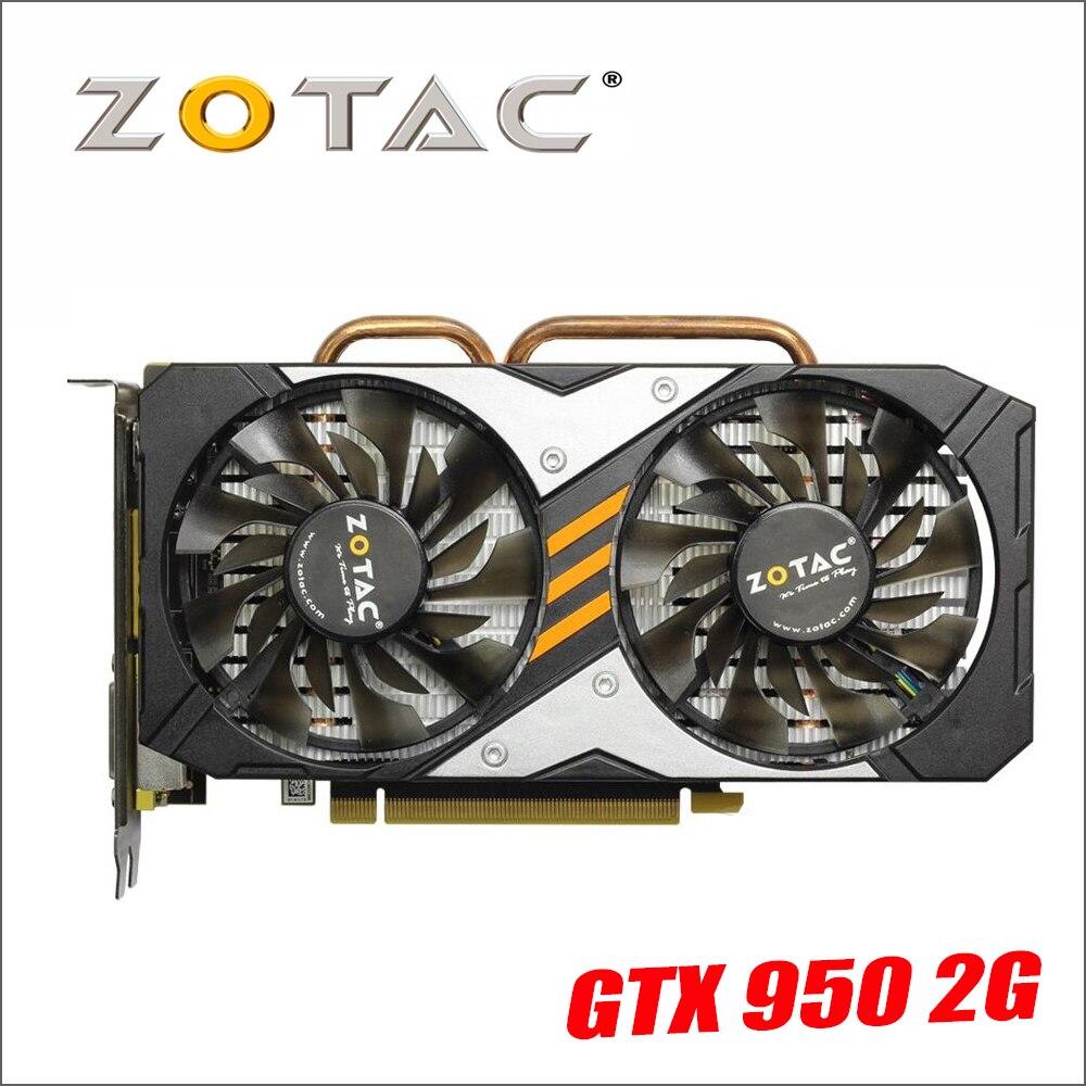 ZOTAC Grafikkarte GeForce GTX950 2GD5 128Bit GDDR5 Grafiken Karten für nVIDIA Karte GTX 950 2g Devastators Hdmi Dvi 750 750ti