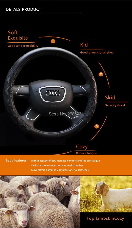 02 Car Steering Wheel Cover