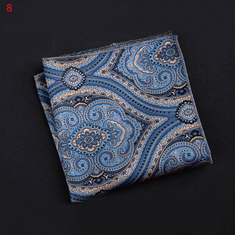 Polyester Square Towel Trendy Wedding Banquet Handkerchief Gentleman Suit Pocket Hanky KS-shipping
