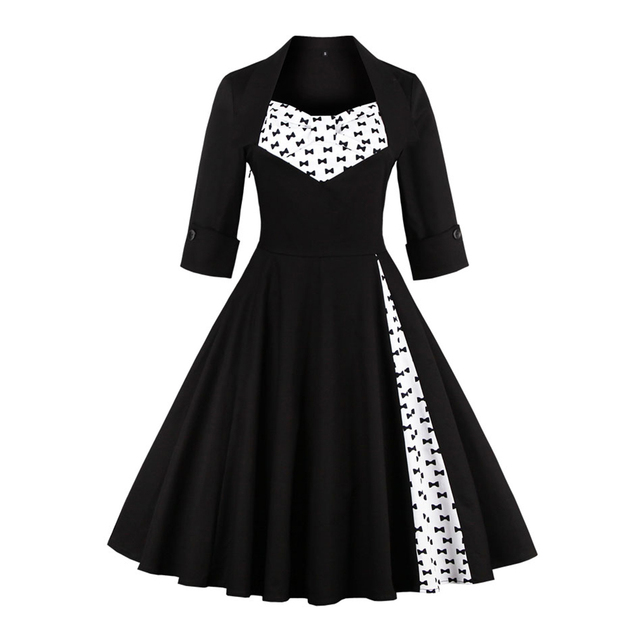 Aliexpress.com : Buy Women Cotton Vintage Dress 50s Christmas ...