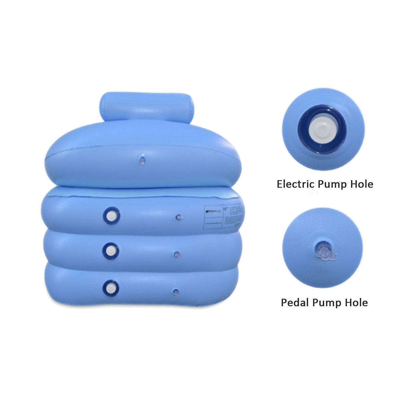 Inflatable Bath Tub PVC Portable Adult Bathtub Bathroom SPA with Air ...