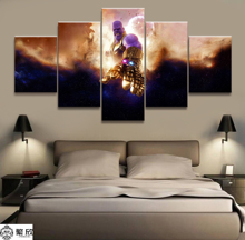 Hot Sales Without Frame 5 Panels Picture Marvel Thanos Film Canvas Print Painting Artwork Wall Art Wholesale