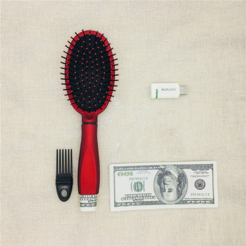 Multi-functional Storage Comb Security Hidden Valuables Safe Hair Brush Secret Stash Box Hollow Container Home Storage