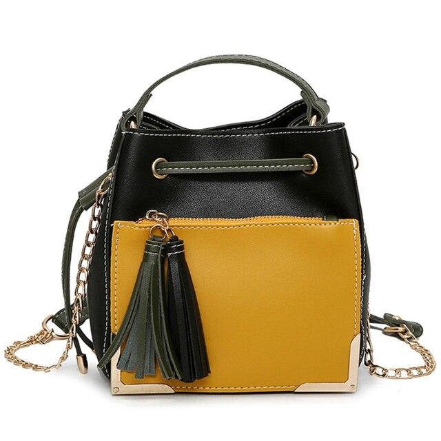 Women Bags Over Shoulder Leather Handbags Crossbody Fringe Tassel Tote Bag Female Chain Brand Sling Small