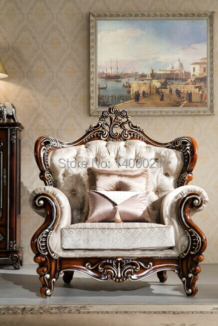 Luxurious European Style Classic Wood Sofa Design ,Living