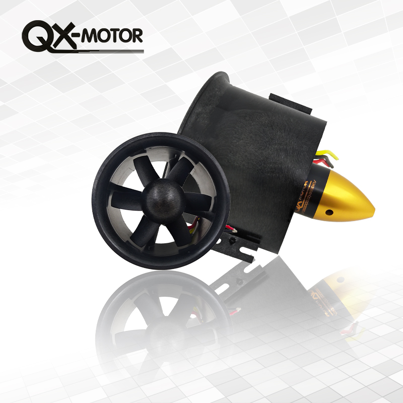QX MOTOR Brand 1 set 70mm Duct Fan 2822 3000kv Motor Spindle-4mm Motor W/ 60A esc for Jet RC EDF Wholesale