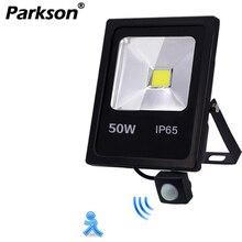 Движения Сенсор Светодиодный прожектор светильник IP65 Водонепроницаемый 50 Вт 30 Вт 10 Вт отражатель светильник лампа AC 220V foco светодиодный внешний на открытом воздухе точечный светильник
