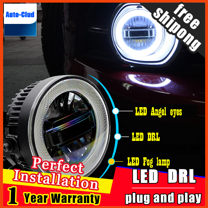 Car Styling Daytime Running Light for Mondeo LED Fog Light Auto Angel Eye Fog Lamp LED DRL High&Low Beam Fast Shipping akd car styling angel eye fog lamp for brz led drl daytime running light high low beam fog automobile accessories