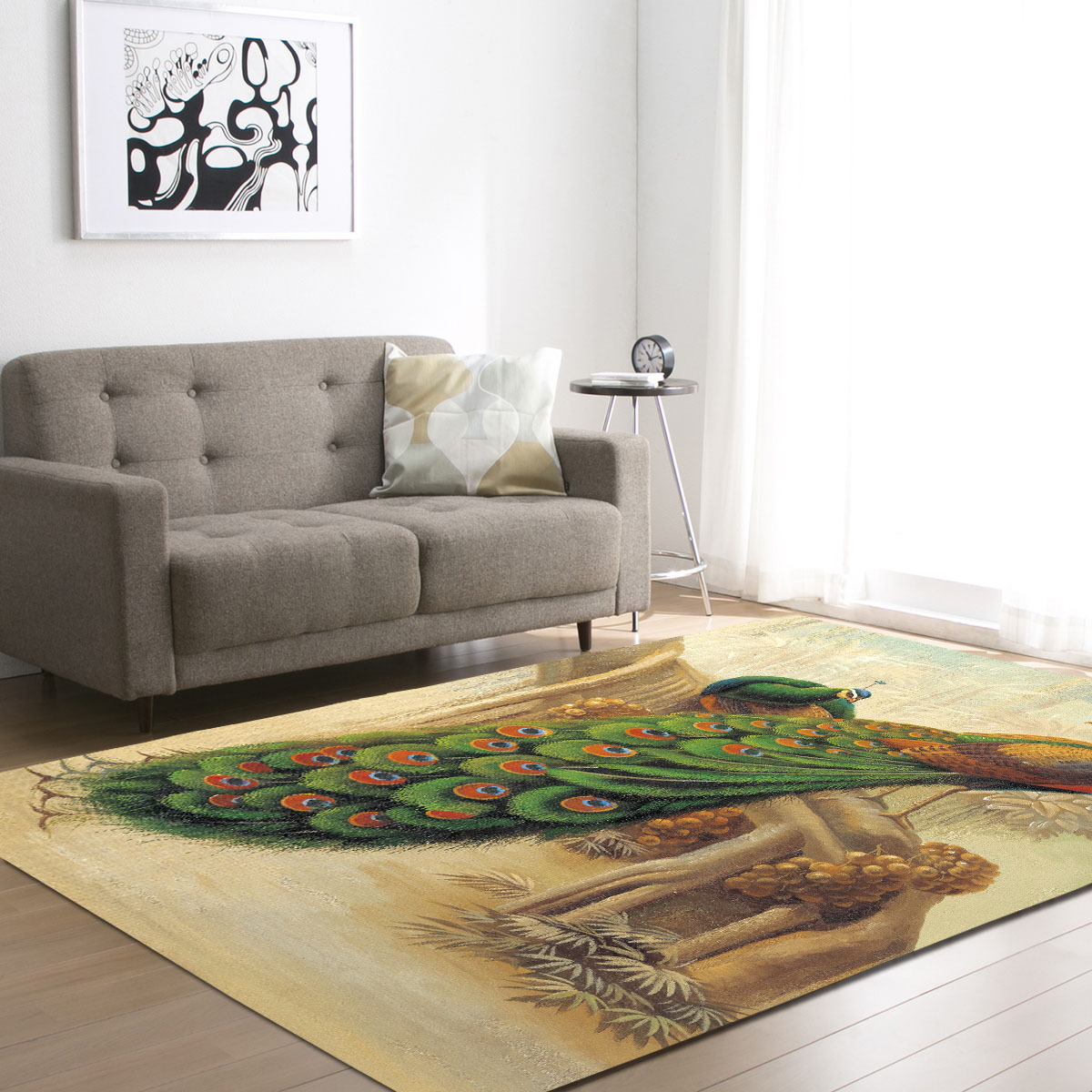 8 Styles Demissir 3d Peacock Print Living Room Carpet Kids Bedroom  -> Tapete Chenille Sala