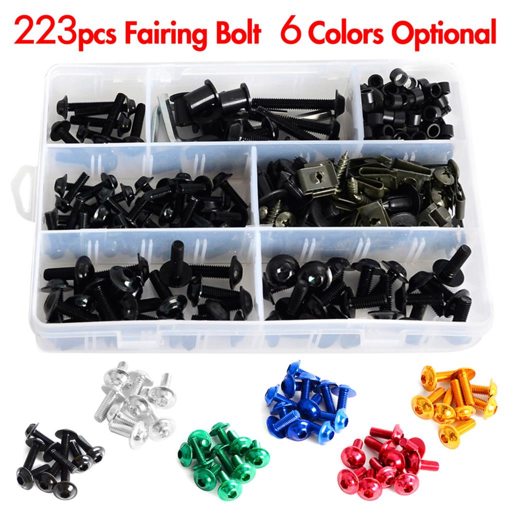 For Yamaha YZF R1 R1S R6 R6S R7 Stainless Steel Complete Fairing Bolt Screws Kit