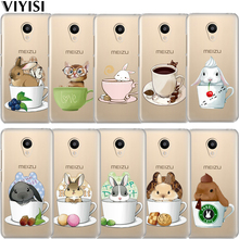 VIYISI Teacup Animal For Meizu U20 10 M6 5 Note M5S 5C M3s 3Note Pro6  Soft TPU Phone Case Shell Coque Rabbit