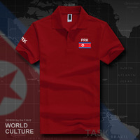 Корейские мужские рубашки поло с коротким рукавом из Северной Кореи и Кореи, белые брендовые рубашки с принтом для страны, 2017 хлопок, флаг сб...