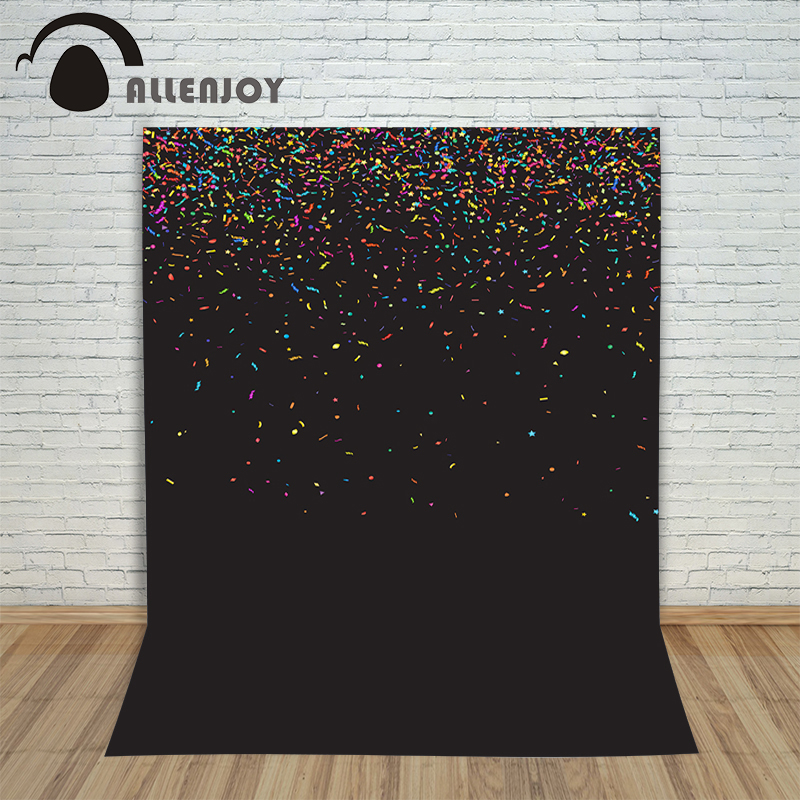 Allenjoy Christmas backdrop Black celebration party colourful ribbons professional background pictures vinyl fabric