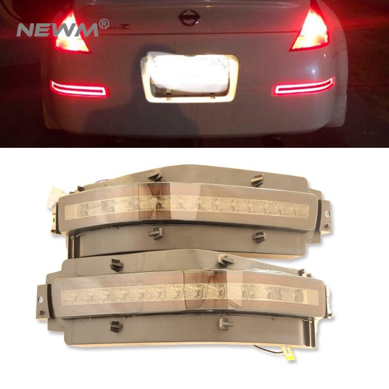Для Nissan 03-09 350Z это привело резервного копирования заднего хода (белый) включите singal свет (желтый) +светодиодный стоп-сигнал (красный) Бесплатная доставка