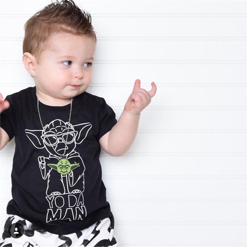 Baby boys clothes 2017 summer baby boy clothing set black