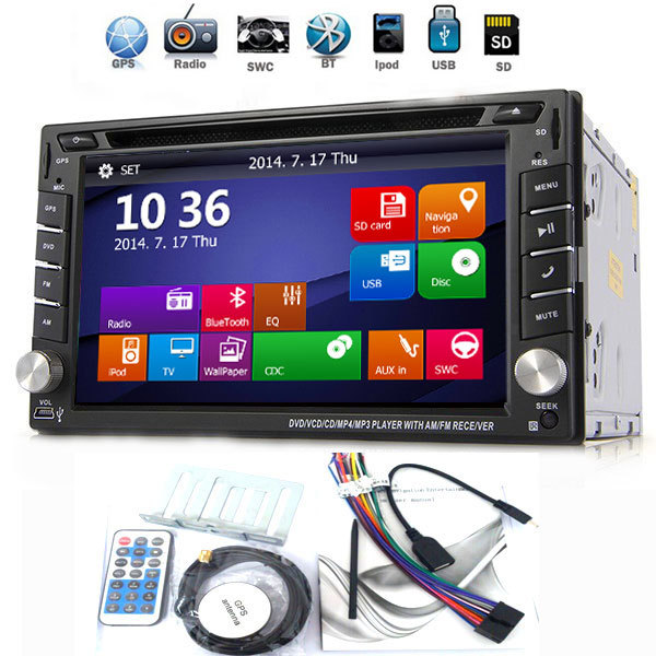 2016 new 2 DIN Car DVD GPS Player Double Radio Stereo In Dash MP3 Head Unit CD Camera parking 2DIN HD TV Radio Video Audio