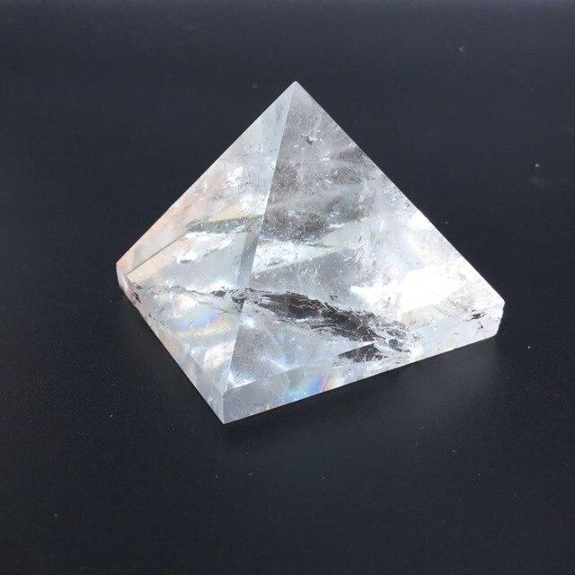 סיטונאי טבעי ברור קוורץ קריסטל אבן שקוף קריסטל ריפוי פירמידת