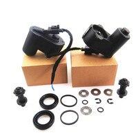ZUCZUG 2 Unidades Servomotor Freno Calibradores Del Freno de mano + Paquete de Reparación + Cable Adaptador del Zócalo Del Arnés VW Sharan Tiguan Passat B7 B6