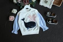Kids Baby Girls Clothes Sweatshirts Whale