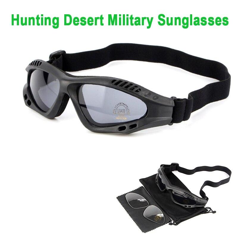 все цены на Polarized Army Goggles Desert 4 Lens, Outdoor UV Sports Hunting Military Sunglasses Men & Women, War Game Glasses онлайн