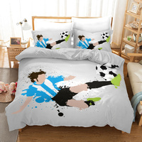 Fanaijia 3D football Duvet Cover Set sport Bedding Set Luxury King Size Quilt Cover and pillowcase bed set