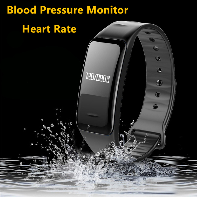 Bluetooth Smart Band Blood Pressure & Heart Rate Monitor Wristband Waterproof Bracelet Sleep Tracker for Sports Fitness Health