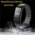 Faixa de Pressão Arterial & Monitor de Freqüência Cardíaca do bluetooth Inteligente Pulseira Sono Rastreador Pulseira À Prova D' Água para Esportes de Fitness Saúde