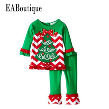EABoutique Hiver Nouveau Ans Outfit Enfants Filles De Mode De Noël tenue Thanksgiving jour costume santa arbre de bande dessinée motif