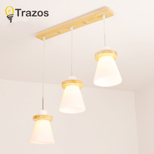 hot deal buy trazos  japan style industrial loft vintage pendant lights wooden white iron edison glass retro loft vintage pendant lights lamp