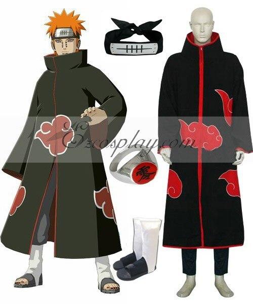 Наруто Акацуки боль (Pein) люксовый костюм для косплея набор E001