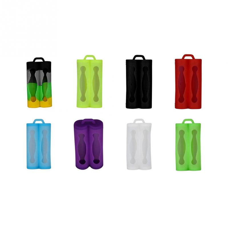 RV77 18650 Silicone Battery Storage Case Protective Covers Colorful Soft Rubber Skin For 2 Pcs 18650 Battery For Vape