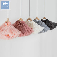 DB7397 spring baby girls skirts ball gown 5 color big bow solid sweety children mini dance skirt kid's clothes