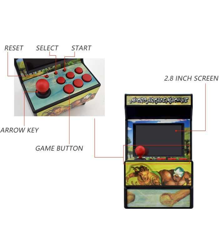 156 juegos para Sega Megadrive Mini consola de juegos Arcade Retro con pantalla colorida de 2,8 pulgadas batería recargable salida AV a TV