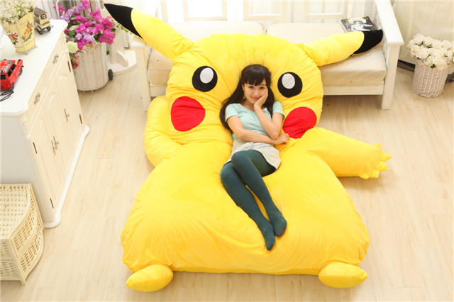 Image 2 - Lovely Pikachu Mattress Totoro Lazy Sofa Cushion Mat Soft Cartoon Bed Child Tatami Cute Toys For Kid-in Mattresses from Furniture