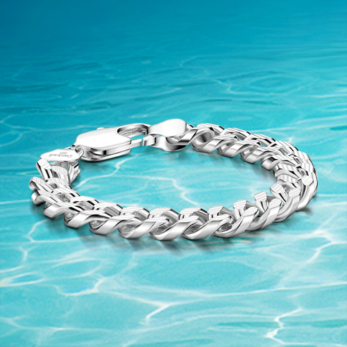 New fashion designsilver bracelet real men silver bracelet 925
