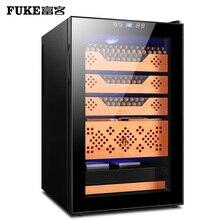 FK-68C3 gold color Temperature and Humidity Cooler Cedar Wood Shelf Mute Adjustable Moisturizing Cabinet Electric Cigar