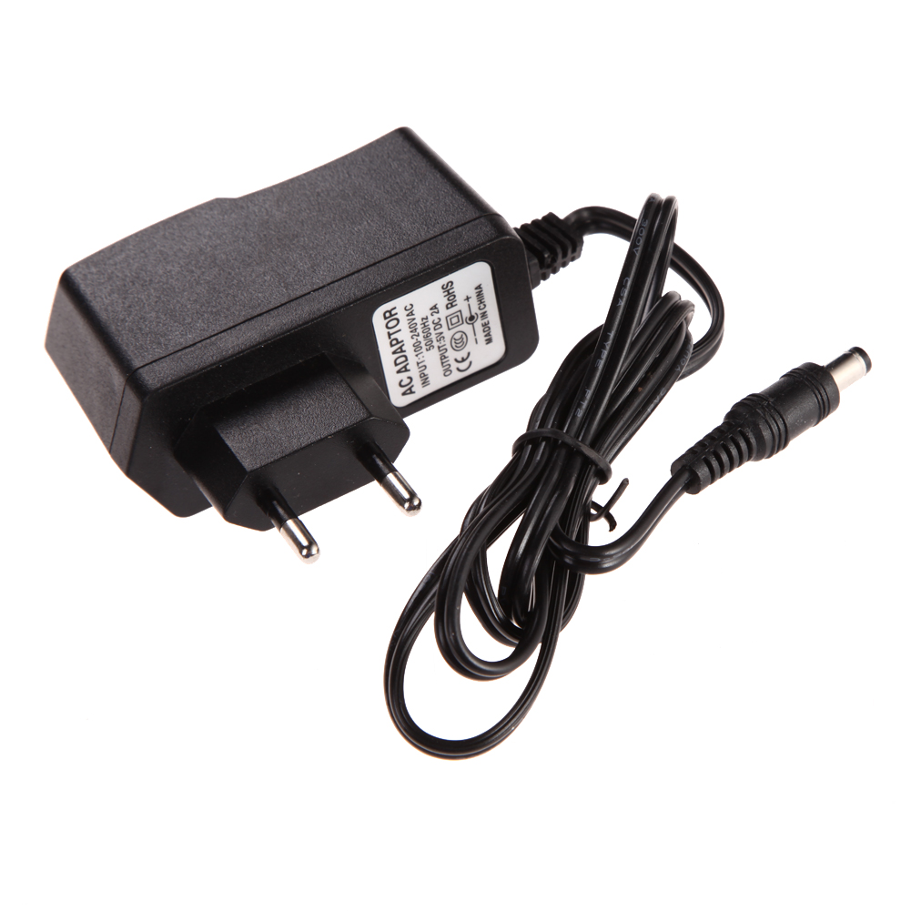 AC 100-240V Converter Adapter DC 5.5mm x 2.5MM 5V 2A 2000mA Charger EU Plug Switching Power Supply Dropshipping ...