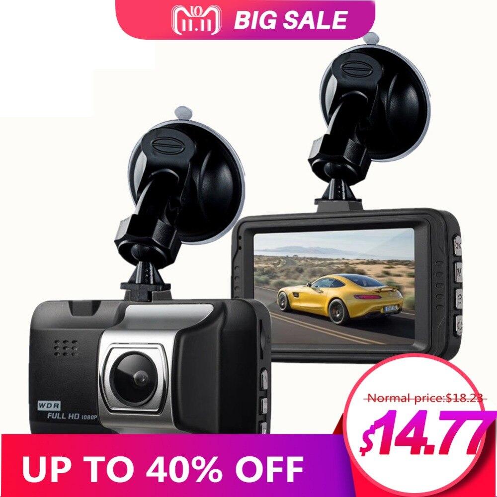 1080P 3 HD 1080P Car Camera Driving Recorder 170 Wide Angle Dashboard DVR Vehicle Dash Camera G-Sensor ABS Plastic