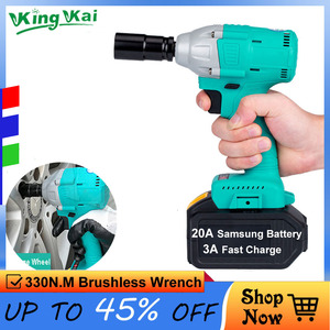 """330N/M 1/2"""" Big Power Torque Brushless Cordless Samsung Lithium Battery Car And Frame Impact Electric Wrench