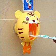 Креативный мультяшный автоматический диспенсер для зубной пасты, настенный держатель, набор для ванной комнаты
